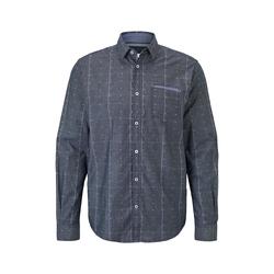 TOM TAILOR Herren Hemd im Muster-Mix, blau, gepunktet, Gr.S