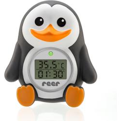 reer Digitales Badethermometer Pinguin, 2in1 digitales Badethermometer, 1x Badethermometer, 2x LR44 Batterien