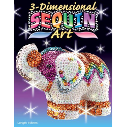 3D Sequin Elefant Figur