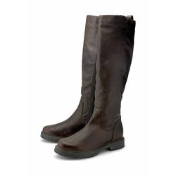Klassische Stiefel Leder-Stiefel COX dunkelbraun