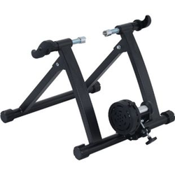 HOMCOM Rollentrainer mit Magnetbremse schwarz 54,5 x 47,2 x 39,1 cm (LxBxH)   Fahrrad Heimtrainer Hometrainer Fahrradtrainer