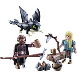 Playmobil® Dragons Hicks und Astrid mit Babydrachen 70040
