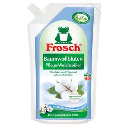 Frosch Pflege Weichspüler, Auf pflanzlicher Basis, 1000 ml - Beutel, Baumwollblüten