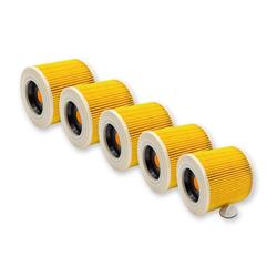 AccuCell Staubsaugerrohr 5x Staubsaugerfilter für Staubsauger wie 6.414-547