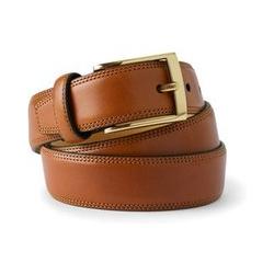 Klassischer Gürtel aus Handschuh-Leder, Herren, Größe: 58 Normal, Braun, by Lands' End, Englisch Leder - 58 - Englisch Leder