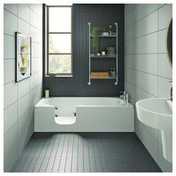 HAK Badewanne CASCADE, Badewanne mit Tür, 150x70 cm, links