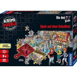 Kosmos Puzzle Krimipuzzle Die drei ??? Kids 200 Teile / Spuk auf dem Schulfest, 200 Puzzleteile, leuchtet im Dunkeln, Made in Germany
