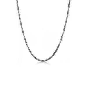 KUZZOI KUZZOI Halskette Basic Männer Panzerkette Massiv Robust 925 Silber