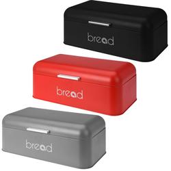 Brotkasten aus Metall 42x22x16 cm - Brotbox mit Deckel - Brotkiste Brotdose