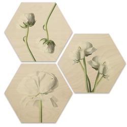 Wall-Art Mehrteilige Bilder Maiglöckchen Blumen Collage, (Set, 3 Stück) 35 cm x 0,9 cm x 30 cm