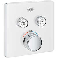 GROHE Grohtherm SmartControl Thermostat mit 2 Absperrventilen Wandrosette moon white 29156LS0