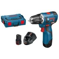 Bosch GSR 12V-20 Professional inkl. 2 x 3,0 Ah + L-Boxx 06019D4005