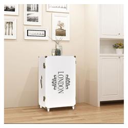 vidaXL Seitenschrank vidaXL Seitenschrank Koffer-Design 40×30,5×81 cm Weiß