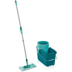 Leifheit Bodenwischer-Set CLEAN TWIST M super soft, inkl. Eimer) für Parkett und Laminat