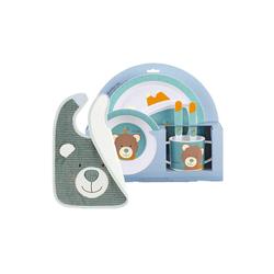 Sterntaler® Kindergeschirr-Set Ben Bär Kindergeschirr mit Lätzchen 6-tlg (6-tlg), Kunststoff