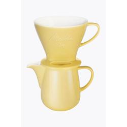 Melitta Melitta® Bundle Kaffeefilter Porzellan 1x4 + Kaffeekanne 0,6l Gelb