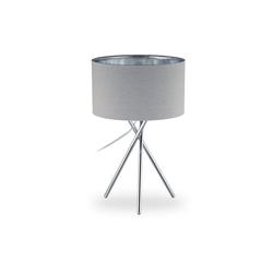 relaxdays Stehlampe Dreibein Lampe grau 29 cm x 29 cm x 46 cm