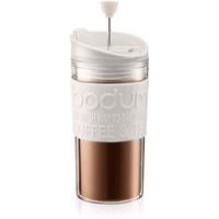 Bodum TRAVEL PRESS Kaffeebereiter, Kunststoff, Weiß/transparent, 8.9 cm