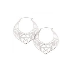 Wildcat Paar Ohrhänger Ohrringe Winged Pentagram