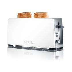Graef TO91 Toaster 2 Scheiben Langes schmales Modell Weiß
