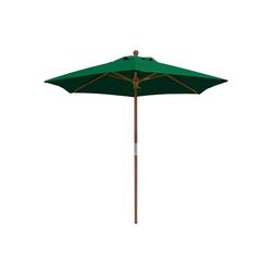 anndora-sonnenschirm Sonnenschirm Sonnenschirm 2,1 m rund - Balkonschirm Landhausschirm grün