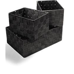 Dekor Ordnungsboxen 4er Set schwarz