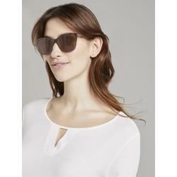 TOM TAILOR Sonnenbrille Wayfarer Sonnenbrille mit farbigem Rahmen goldfarben