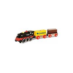 Eichhorn Spielzeug-Eisenbahn E-Lok mit Wagon und Ladegut, 5 tlg.