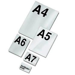 LMG Laminierfolien-Set glänzend für A4, A5, A6, A7, Kreditkartenformat