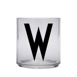 Design letters personalisiertes Trinkglas für Kinder Buchstabe W