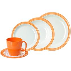 WACA Kombiservice Bistro, (Set, 10 tlg.) orange Geschirr-Sets Geschirr, Porzellan Tischaccessoires Haushaltswaren