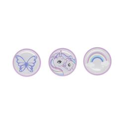 Beckmann Schulranzen Reflektor-Buttons Blue, 3 Stück rosa