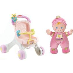 Fisher-Price Lauflern- und Puppenwagen inkl. Meine erste Puppe, 20 cm pink
