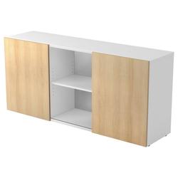 KAPA 1780 | Sideboard | mit Schwebetüren - Weiß/Eiche Sideboard