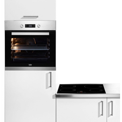 BEKO Backofen-Set BSM22321X, Simple Steam Reinigungsfunktion, mit Umluft-Grill