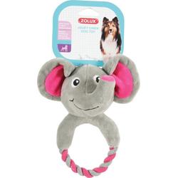 ZOLUX Hundespielzeug Plüsch Toudoux Théo für Hunde grau