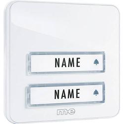 M-e modern-electronics KTA-2W Klingelplatte mit Namensschild 2fach Weiß 12 V/1A