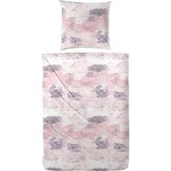 Bettwäsche Spot, Primera, mit pastelligem Marmoreffekt rosa 1 St. x 155 cm x 220 cm