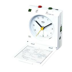 Braun Reisewecker BNC005 Reise-Klappwecker weiß