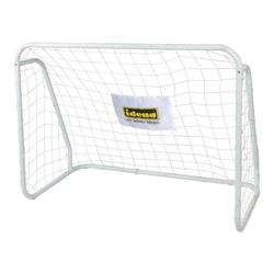 Idena Fußballtor Fußballtor aus Metall mit Netz, ca. 124 x 96 x 61 cm, Weiß, ideal für Outdoor, Garten, Park, Strand und Halle