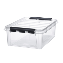 Hobby Box 24 mit Deckel transparent Aufbewahrungsbox für den Haushalt