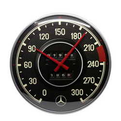 Retro Wanduhr Mercedes-Benz - Tacho Durchmesser: 31cm