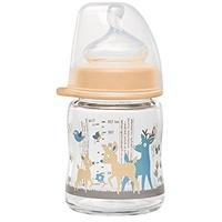 nip Weithalsflasche mit Anti-Kolik Sauger: Baby Trinkflasche mit ACTIFLEX- System, Made in Germany, BPA-Frei, Glass, Einheitsgröße, Saugloch M-mittlerer Trinkfluss, 120 ml, Girl