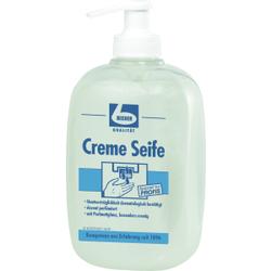 Dr. Becher Creme Seife, Hautverträgliche Waschcreme mit Perlmuttglanz, 500 ml - Pumpflasche