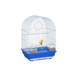 relaxdays Vogelkäfig Vogelkäfig mit Zubehör blau