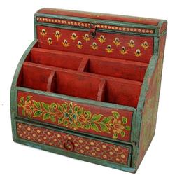 Guru-Shop Schreibtisch Vintage Schreibtisch Ordner, Schreibtisch..