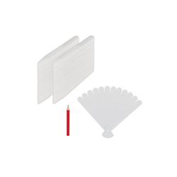 relaxdays Etikettenpapier Stecketiketten 300er Set aus Kunststoff
