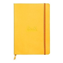 Rhodiarama flexi Blattes Notizbuch A5 80 Blatt liniert Papier elfenbein 90g  gelb - Buch