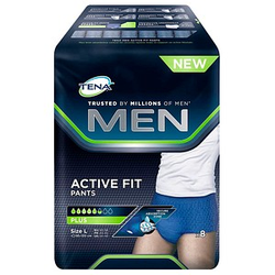 TENA Inkontinenzhosen MEN ACTIVE FIT PANTS PLUS Größe L für Männer
