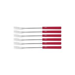 Spring Raclette und Fondue-Set Käsefondue Gabeln 6er Set Basic rot